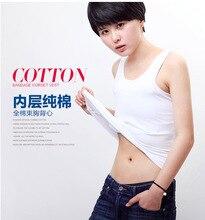 Flat Slim long Vest  sport outdoor YOGA clothing cotton Chest/Breast Binder lesbian Undershirt Les corset Bustiers Tomboy
