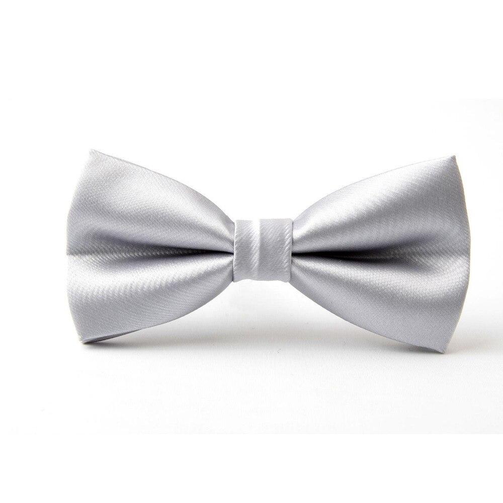کراوات نقره ای رنگ جامد پروانه کراوات - لوازم جانبی پوشاک
