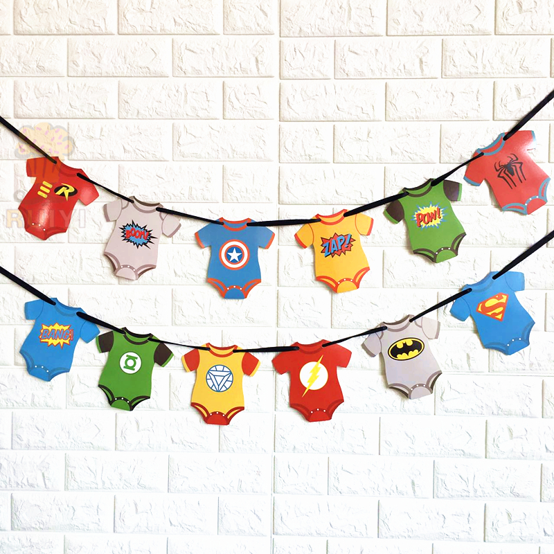 Superhero Avengers Banners Baby Shower Birthday Party