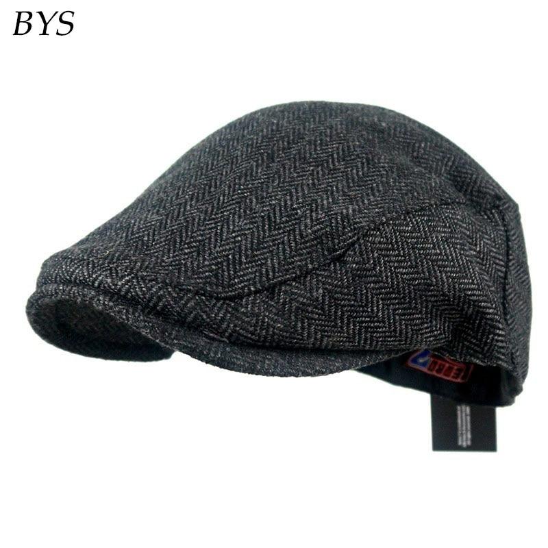 2017 Fashion Herringbone Tweed Gatsby Newsboy Cap Men Cotton Ivy Hat Street  Casual Driving Flat Cabbie Flat Unisex Berets Hat 28b411e8e98
