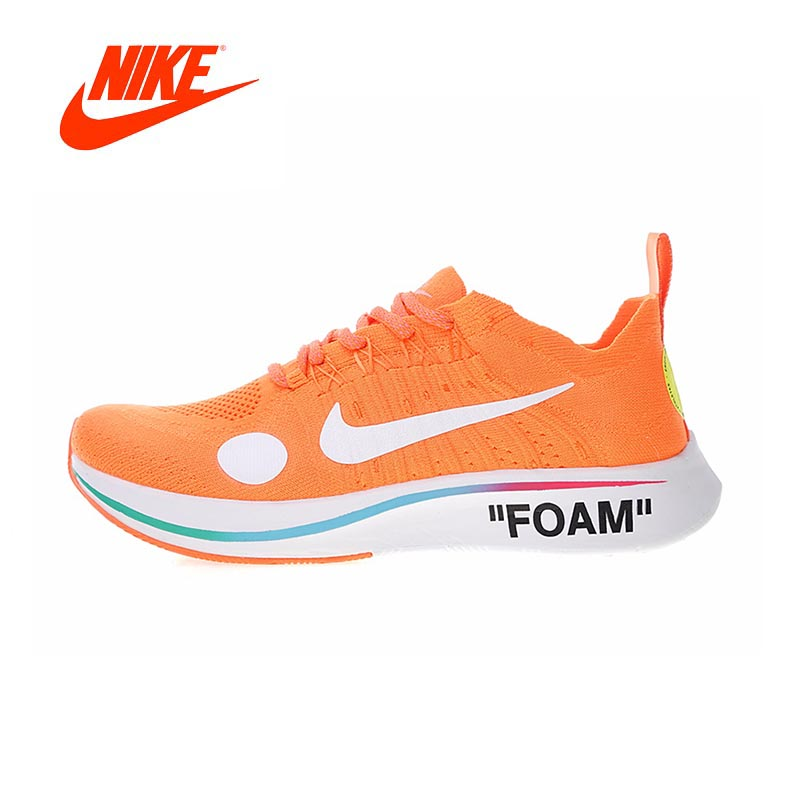 Original New Arrival Authentic Nike Zoom Fly Mercurial Flyknit X Off-White Men's Running Shoes Sport Outdoor Sneakers AO2115-800