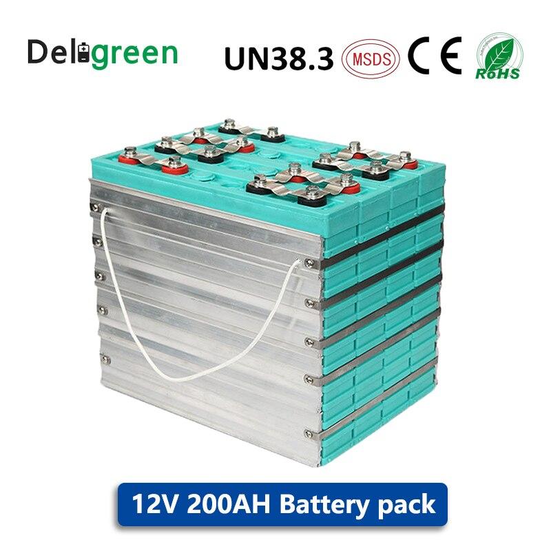 Longa vida bateria GBS LIFEPO4 12V 200AH para veículos elétricos, armazenamento de energia solar UPS 4pcs muito