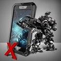 Luxo aluminum metal case à prova de choque à prova de poeira à prova d' água para iphone 6 4.7 & mais 5.5 polegada Armadura X-Homem Fresco Capa Dura Shell