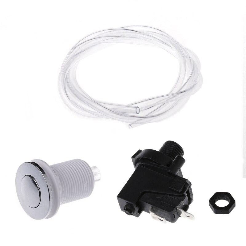 Bath Tub Spa Waste Garbage Disposal Self-Lock Air Switch Push Button Air Hose L15