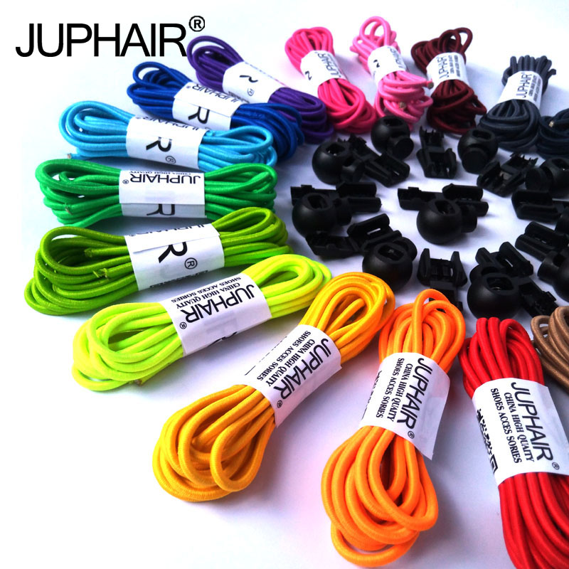 JUP 50 Pairs Round Fashion No Tie Shoelaces Locking Shoes Laces Elastic Shoelaces for Shoestring Jogging Triathlon Sports Fitnes jup 50 pairs sneaker shoelaces skate boot laces outdoor sport casual multicolor bumps round shoelace hiking slip rope shoe laces