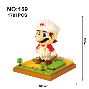 Image 4 - Model Building Blocks Mario Bros Yoshi Series Cartoon Juguetes Anime Figures Assembled Mini Brick Educational Toys For Children