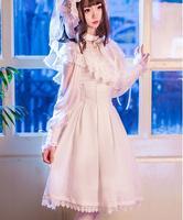 Vintage sweet lolita skirt cute printing palace lace victorian skirt gothic lolita sk kawaii girl tea party princess loli cos