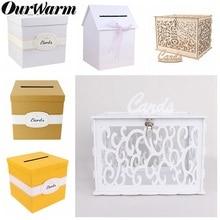 OurWarm DIY коробка для свадебных подарочных карт, коробка для денег, красивые свадебные украшения, принадлежности для хранения денег на день рождения