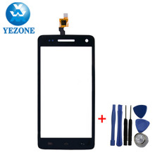 Smartphone Parts For Explay Fresh Touch Screen Replacement Cell Phone Parts Front Glass Lens With Sensor Digitizer Black Color