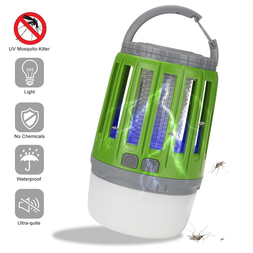 2-in-1 Outdoor Mosquito Killer Lamp USB Rechargeable Waterproof LED Night Lamp Electric Fly Bug Insect Trap Killer Zapper Home2-in-1 Outdoor Mosquito Killer Lamp USB Rechargeable Waterproof LED Night Lamp Electric Fly Bug Insect Trap Killer Zapper Home