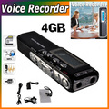 Free Shipping Brand New Voice Activated 4GB Digital Voice Recorder Dictaphone Voice Recorder 4GB