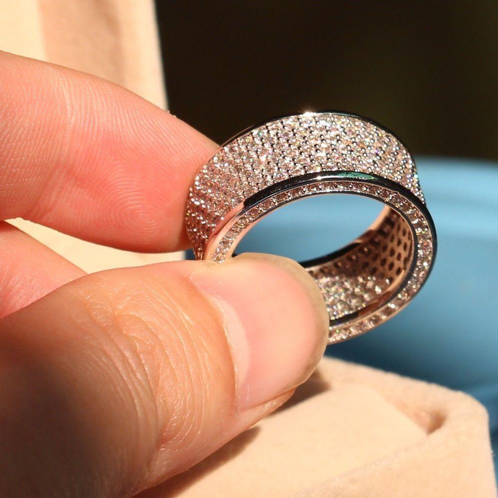 Promovare mare de lux 320pc 5A CZ 10kt aur alb umplut nunta Cercul - Bijuterii de moda - Fotografie 4