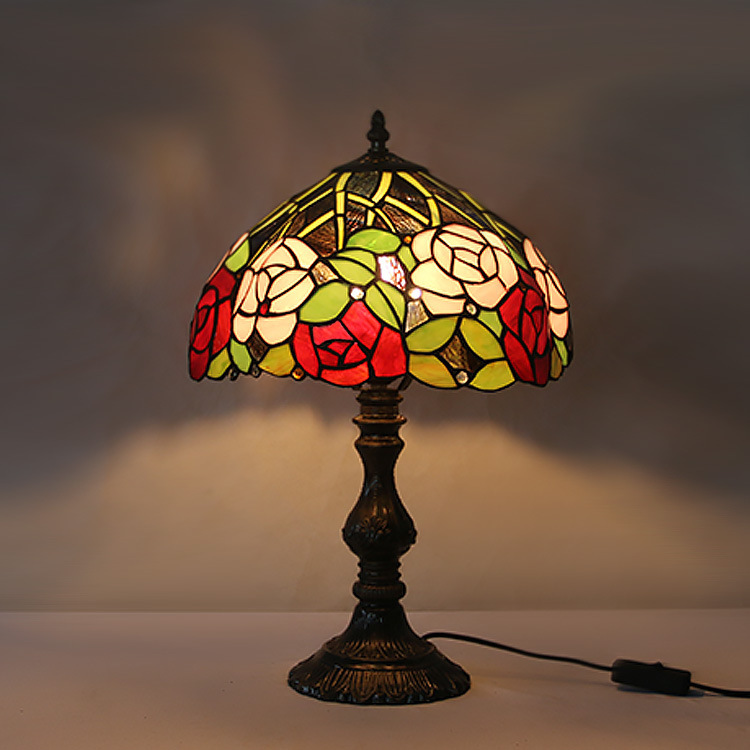 New Table Lamps Stained Glass Lamp led light Bedside Study Pastoral Living Room Bar Table Lights Christmas home Desk lightsNew Table Lamps Stained Glass Lamp led light Bedside Study Pastoral Living Room Bar Table Lights Christmas home Desk lights