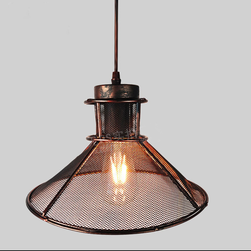 Vintage Pendant Lights Industrial Loft Umbrella grid iron pendant lamps Retro Lamps Creative Restaurant Dining Room Lamp Bar