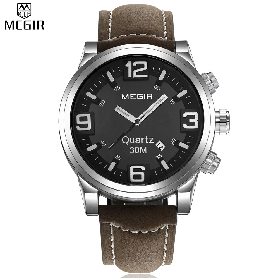mens large watches reviews online shopping mens large watches megir large dial casual watch men luxury brand quartz military sport watch digital men s wristwatches relogio masculino
