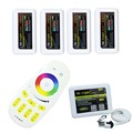 Milight Led WiFi Controller + 4PCS Group 2.4G Led RGBW Controller Box + 1PC 4-Zone RF Remote Control For RGBW Led Strip Light