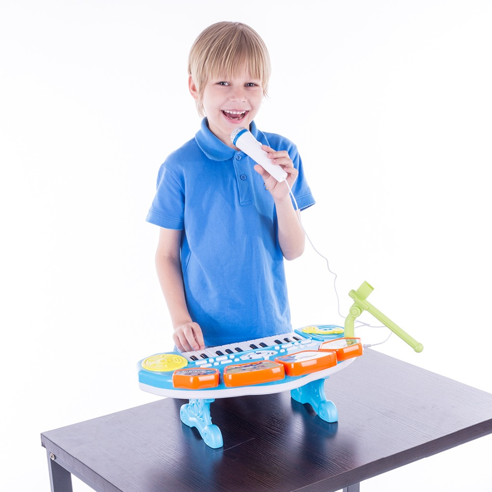 Surwish 3 en 1 enfants en plastique clavier électronique Instruments de musique jouet