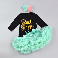 Newborn Jumpsuits Set New Infant Baby Girl Boutique Outfits Sets Short Sleeve Romper Bow Tie Pettiskirt