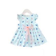Обувь для девочек Платья для женщин для малышей Летнее платье для маленьких девочек праздничное платье принцессы Свадебные лук Платья для женщин птичка без рукавов Vestido 3 цвета