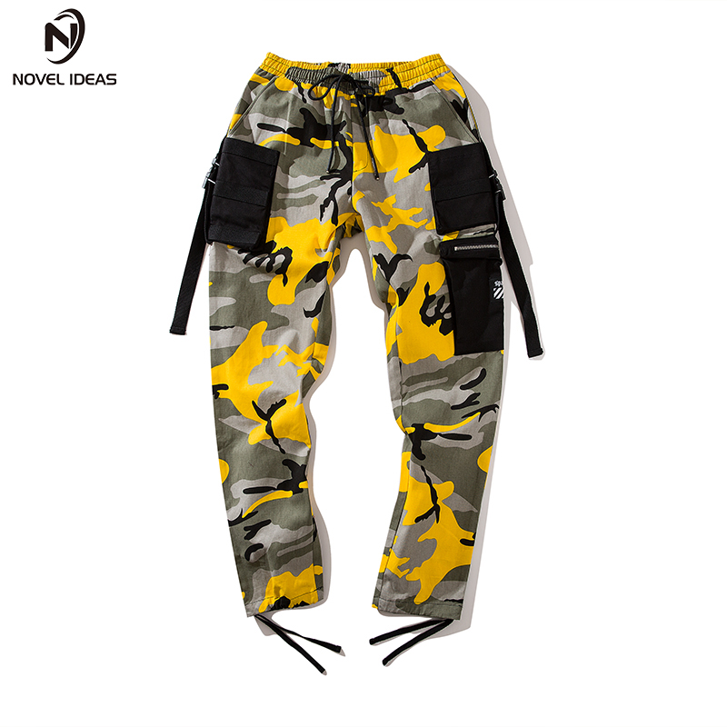 Image 3 - Novel ideas Fashion Men Camouflage Pant High Waist Hiphop Pink Camo Pant Military Pant Jogger Dance Pant US Size-in Casual Pants from Men's Clothing