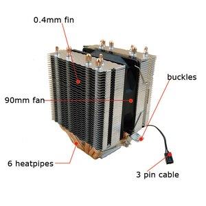 Image 5 - Aigo L6 สอง Tower CPU Cooler ฮีทซิงค์ 6 Direct Contact ความร้อนท่อหม้อน้ำ 90mm LED พัดลมคอมพิวเตอร์ CPU Cooling Cooler