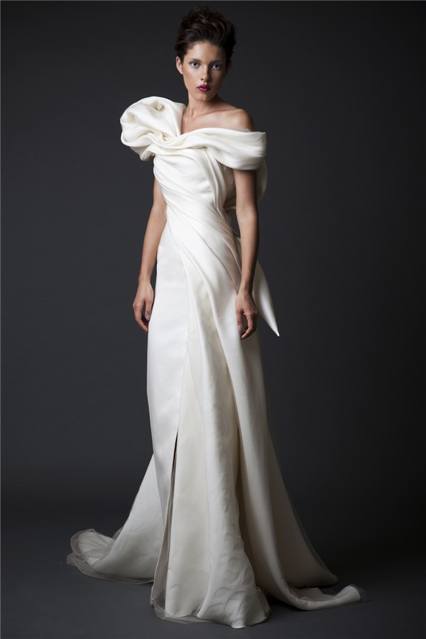 Custom Made Sexy Backless with Bow Puffy Long Evening Dress Prom Dresses 2015 robe de soiree Krikor Jabotian