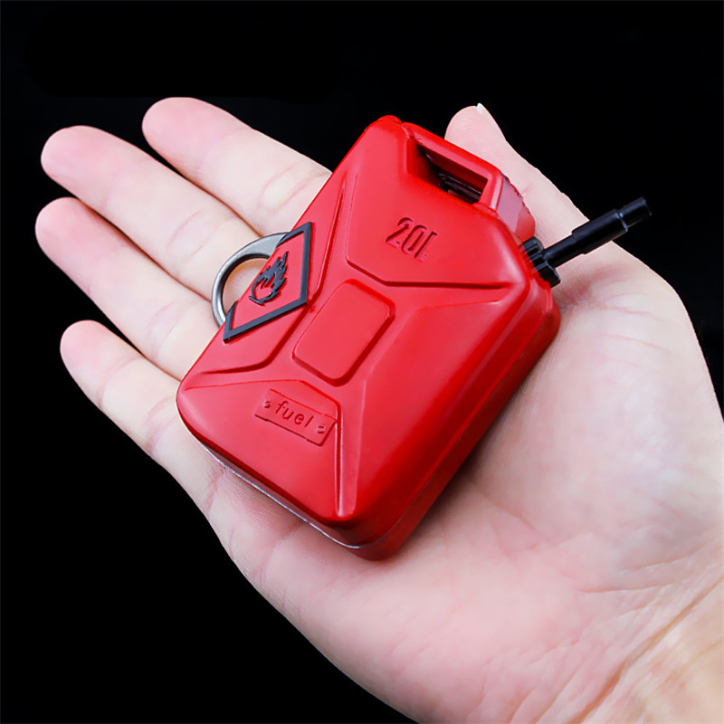 Hot Game PUBG Playerunknown's Battlegrounds 3D Red Barrels of gasoline Keychain Pendant funny kids Adult Toy Cosplay accessories
