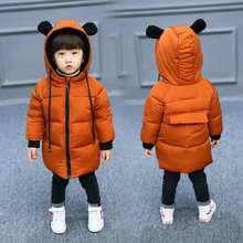 Binhbet Children Jackets Boys Girls Winter Coat Baby Thick Winter Coat Kids Warm Outerwear Hooded Coat Snowsuit Overcoat Clothes(China)