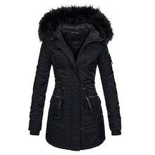 купить Winter Jacket Women Plus Size 2019 Black Warm Parka Thick Outwear Cotton Long Coat Hooded Faux Fur Collar Female Casual Overcoat по цене 3043.58 рублей