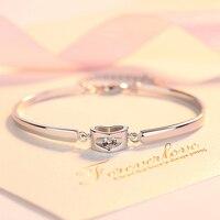 Серебряный браслет женский четырехлистный клевер серебряные ювелирные изделия японский и корейский простой моды студентов отправить подр