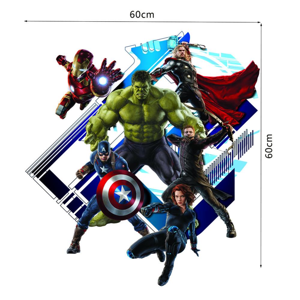 HTB1QkQrJXXXXXaTXXXXq6xXFXXXK - Super Hero Avengers Hulk Peel and Stick Wall Sticker For Kids Room-Free Shipping