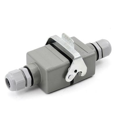 Rectangle Heavy Duty Connector Aviation Plug Socket 16A HDC-HE-4 4 6 10 16 24 Pin