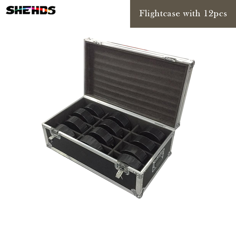 Flight Case with 12 pieces LED Flat Par 9x10WD+30W RGB Light RGB 3IN1 Lighting for Club Party Disco DJ,SHEHDS Stage Lighting