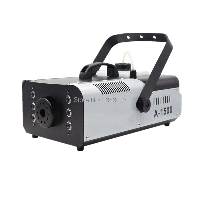 1500W Fog Machine with 6PCS RGB 3in1 LED lights/Remote and Wire Control Stage LED Smoke machine/Stage Fogger Bar KTV DJ Lighting