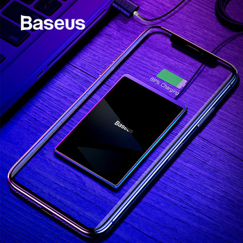Baseus 15W Qi Caricatore Senza Fili Per iPhone X Xs Max Ultra Sottile Veloce Wirless Wireless Pad di Ricarica Per Samsung s10 S9 Xiao mi mi 9