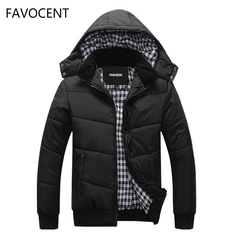 2018 Fashion Winter Jacket Men Warm Coat Casual   Parka   Thickening Simple Hem Practical Waterproof Zipper Coat Men For Winter