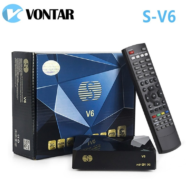 [Genuine] 5pcs S-V6 Mini HD DVB-S2 Satellite Receiver S V6 Support Card Sharing Newcamd WEB TV xtream NOVA Wheel TV USB Wifi