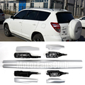 Car Roof Rack Silver Alloy Top Roof Side Rails Rack Cargo Luggage For Toyota RAV4 2006 2007 2008 2009 2010 2011 2012