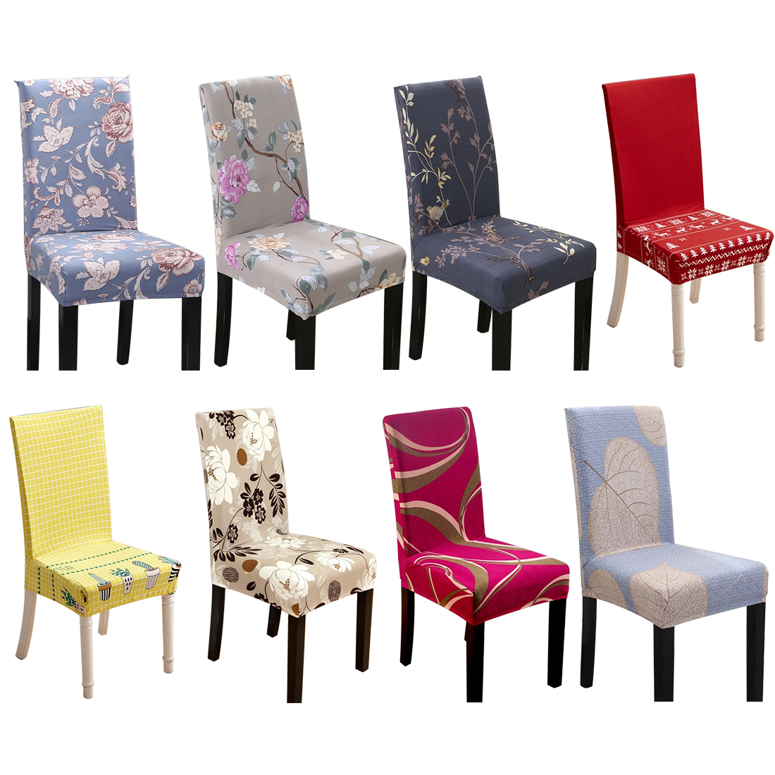 Multitype Flower Printing Removable Chair Cover Elastic Slipcover Kitchen Seat Case Spandex Stretch Chair Cover For Banquet