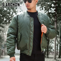 MA1 Men Winter Warm Military Airborne Flight Tactical Bomber Jacket Army Air Force Fly Pilot Jacket