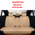 4 unids Leather car seat covers Para Mercedes-Benz Abce S serie CLA CLS GLA GLS GLE SL SLC accesorios car styling