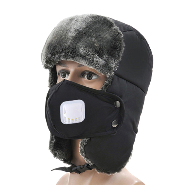 Winter Snow Skiing Hats Outdoor Windproof Sports Hats Mask Pilot Hat Warmer  Ear Protection Snow Ski 7bc9e473fd5