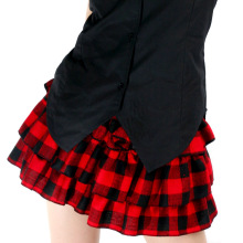 Cute Tiered Skirt Japanese School Style Scotland Plaid Mini Skirt for Girl by Dolly Delly