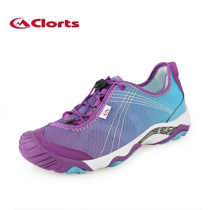 17679bd3d4e8 2018 Clorts Открытый обувь для женщин дышащий летние вверх по течению обувь  быстросохнущий болотных кроссовки спортивная