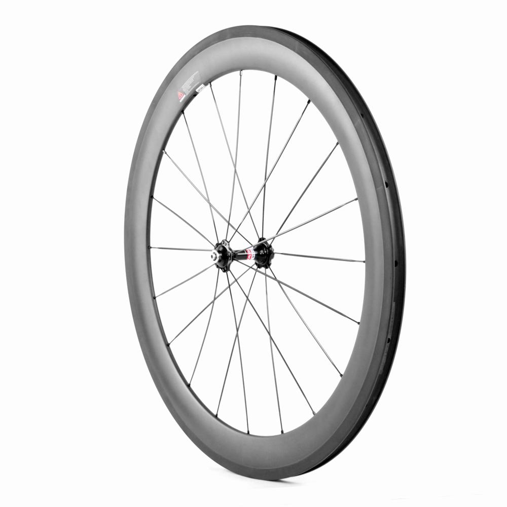 700c 60mm clincher carbon road bike wheelset for Shimano Sram or Campagnolo_5