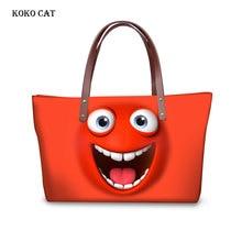 Funny Smiley face Printing Women Shoulder Bag Fashion Handbags Lady Large Tote Hand Bags for Female Handbag Bolsa  Feminina все цены
