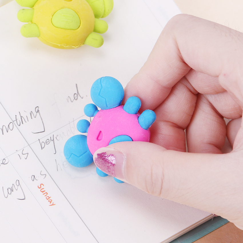 Funny Crab & Popsicle Erasers 2