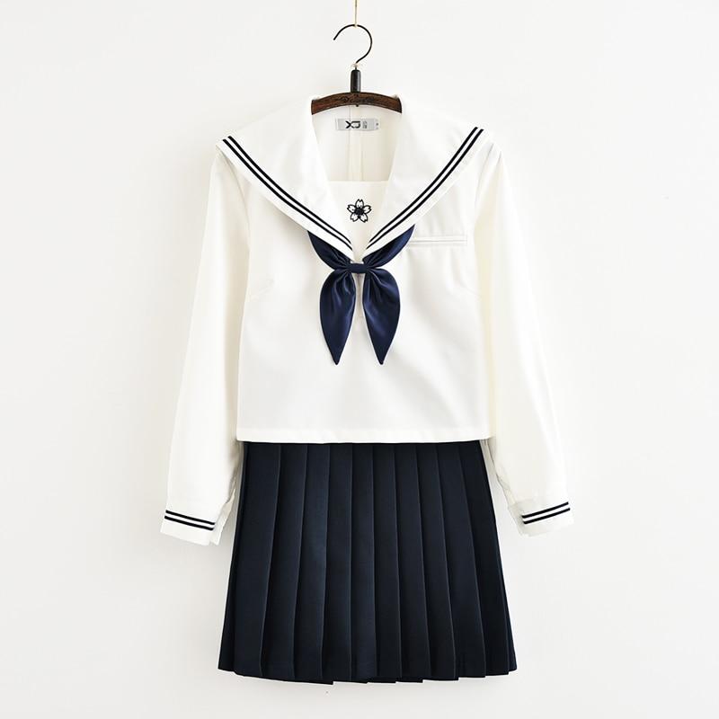 Svitania japonais à manches longues JK école uniforme couleur marin costume lycée collège costume femmes étudiants uniformes