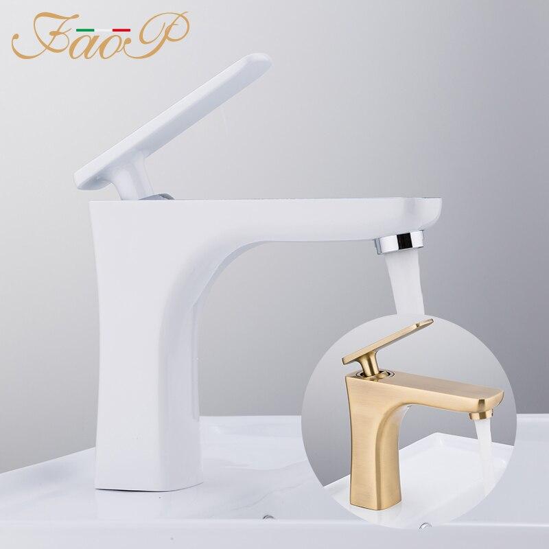 FAOP basin faucet mixer water tap bathroom sink faucet waterfall bathroom faucet deck mounted taps torneir цена