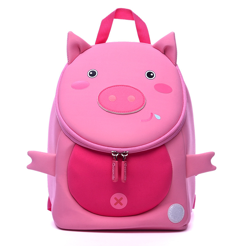 2019 New Baby Girls Backpacks For Nursery School Cartoon Pig Kindergarten Children Backpack Kids Satchels Infants School Bags